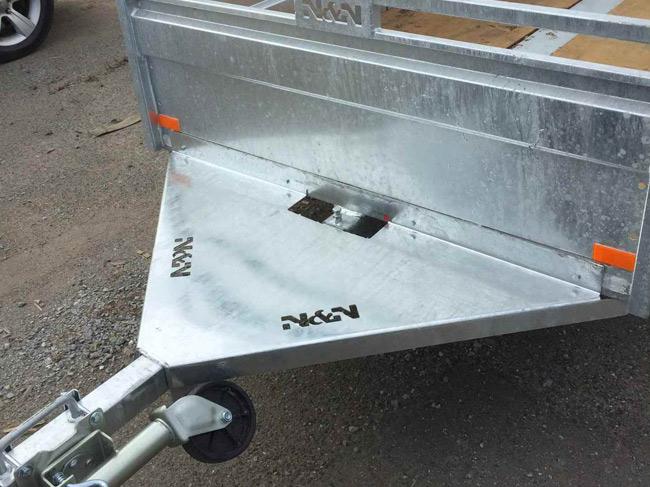 Remorque galvanisée utilitaire pole-en-a / Galvanized utility trailer a-pole